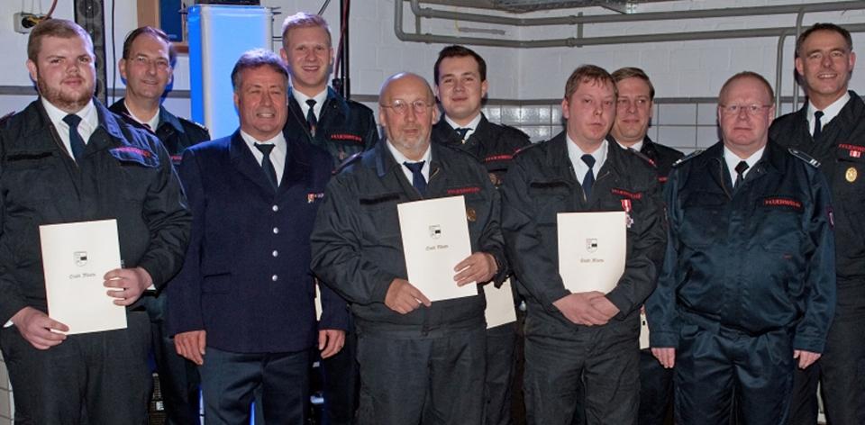 Beförderungen 2017 Feuerwehr Moers Löschzug Repelen